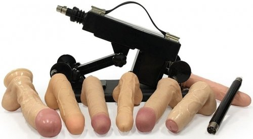 Automatic Sex Machine With Seven Dildos male Masturbation